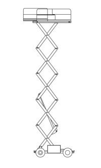 12m Electric Scissor Lift