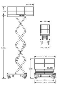 8m Electric Scissor Lift